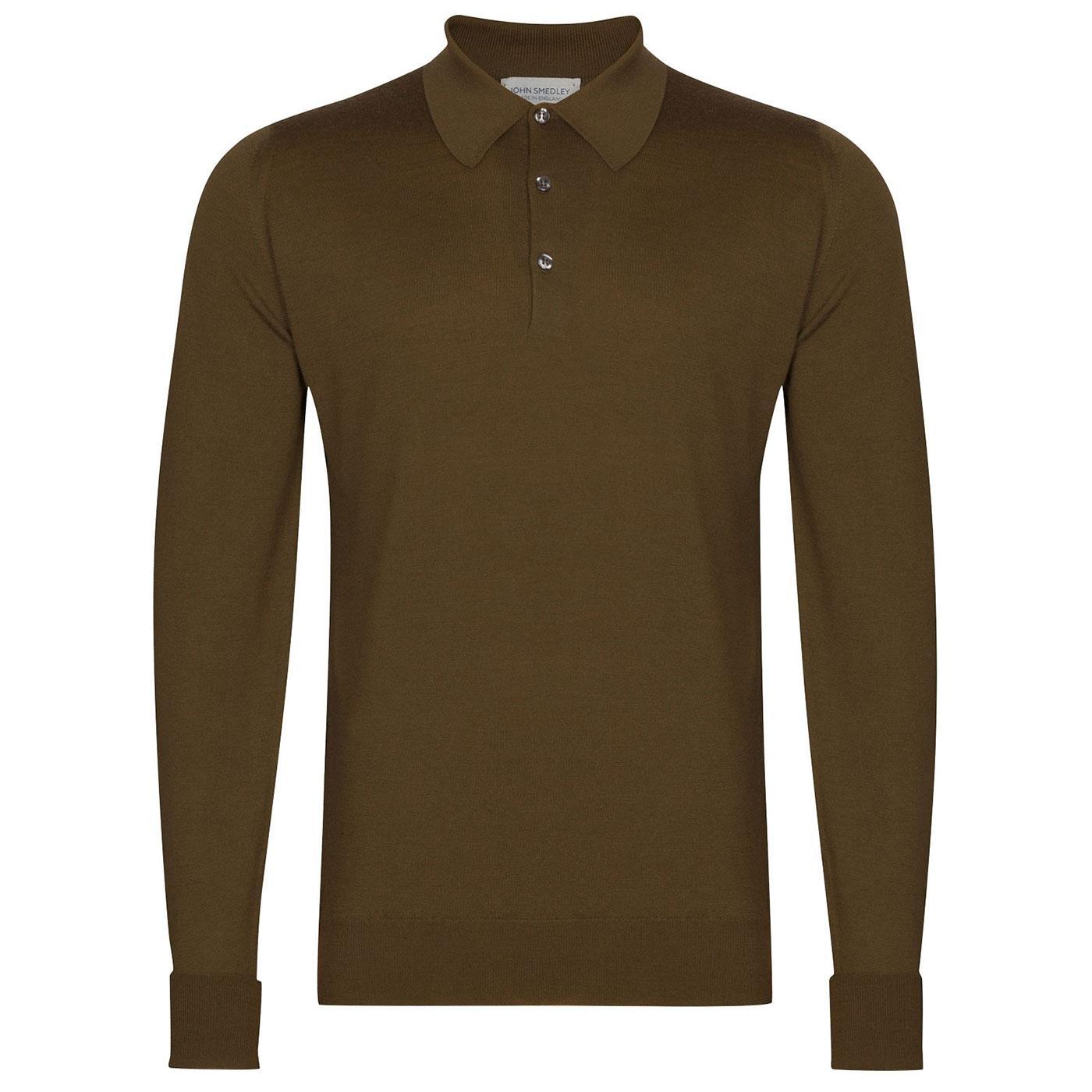 Dorset JOHN SMEDLEY Knitted Wool Mod Polo Shirt Kh