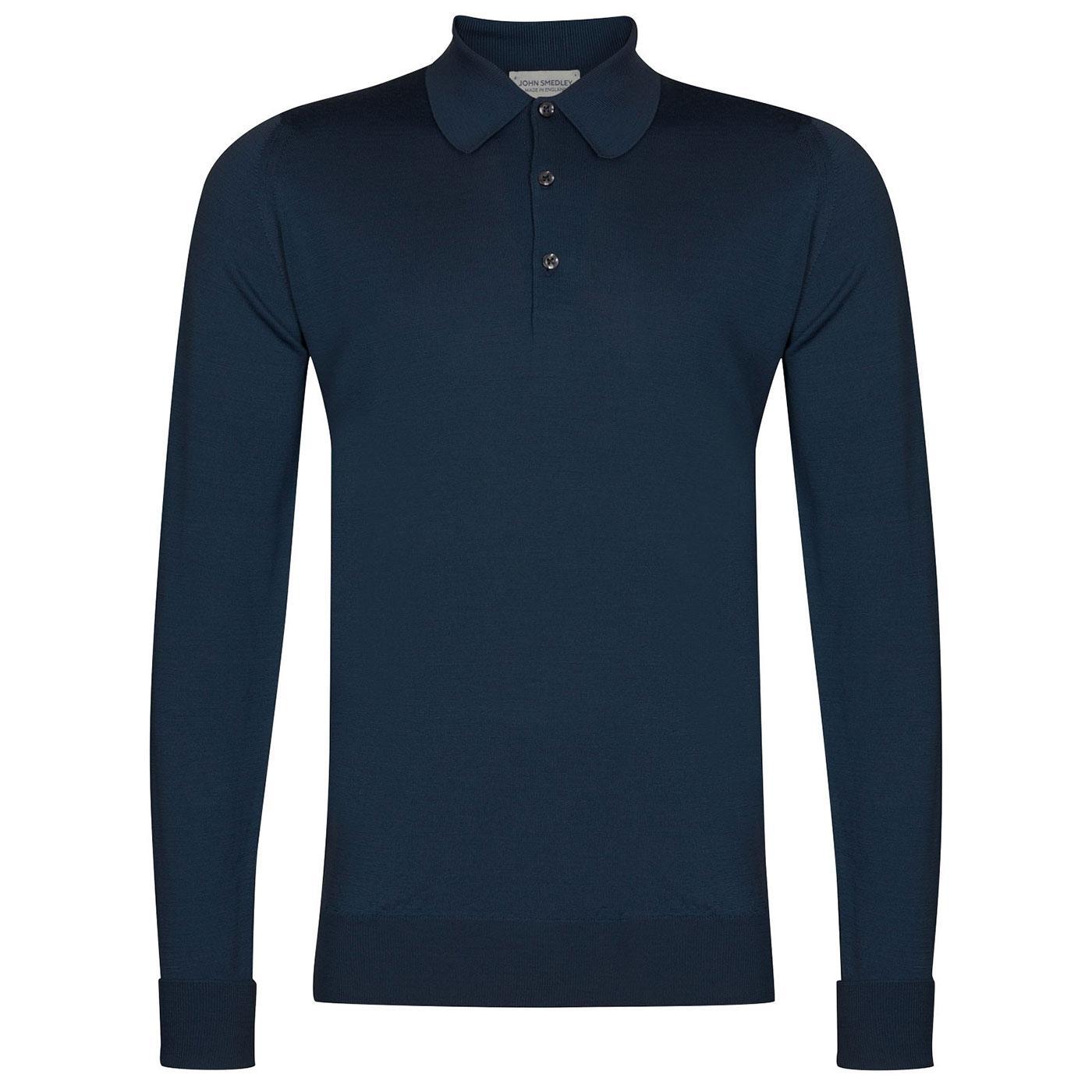 Dorset JOHN SMEDLEY 60s Knitted Mod Polo Shirt VB