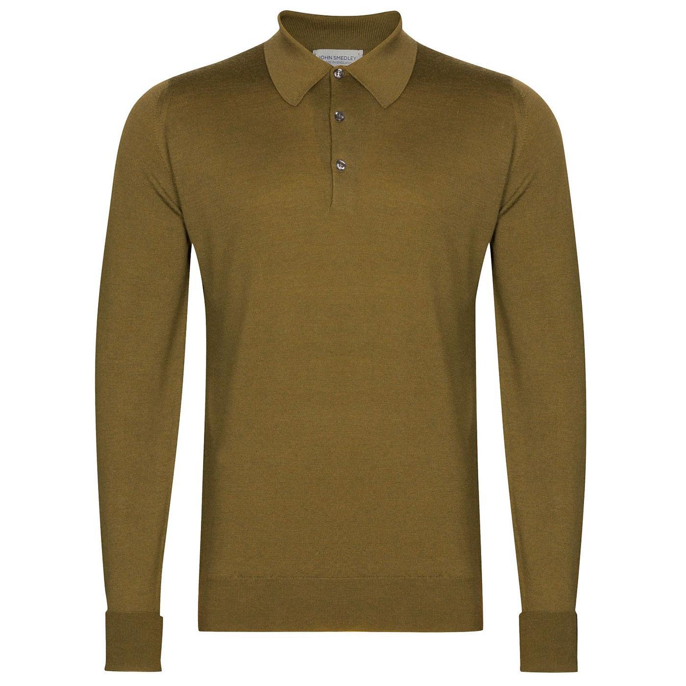 Dorset JOHN SMEDLEY Mens Knitted Mod Polo Shirt WG