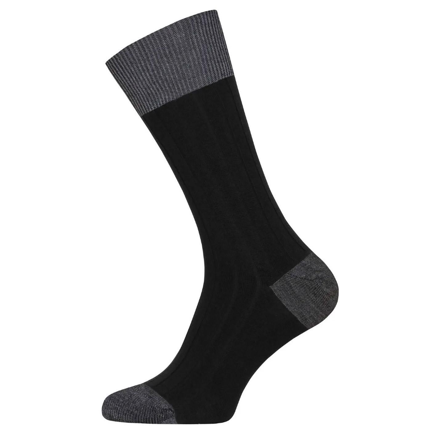 Gamma JOHN SMEDLEY Colour Block Ribbed Socks (B/C)