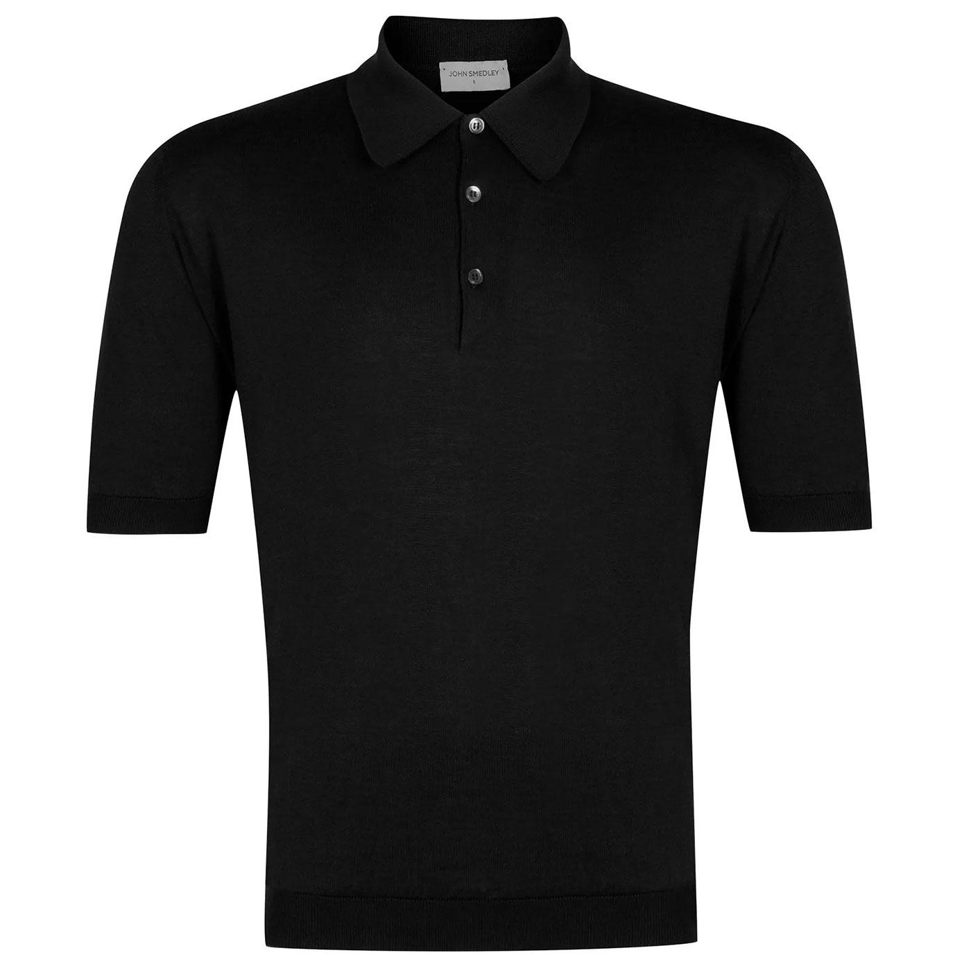 Isis JOHN SMEDLEY Mens Knitted 1960's Mod Polo (B)