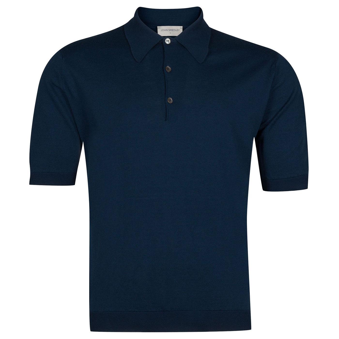 Isis JOHN SMEDLEY Knitted Retro Mod Polo Shirt I