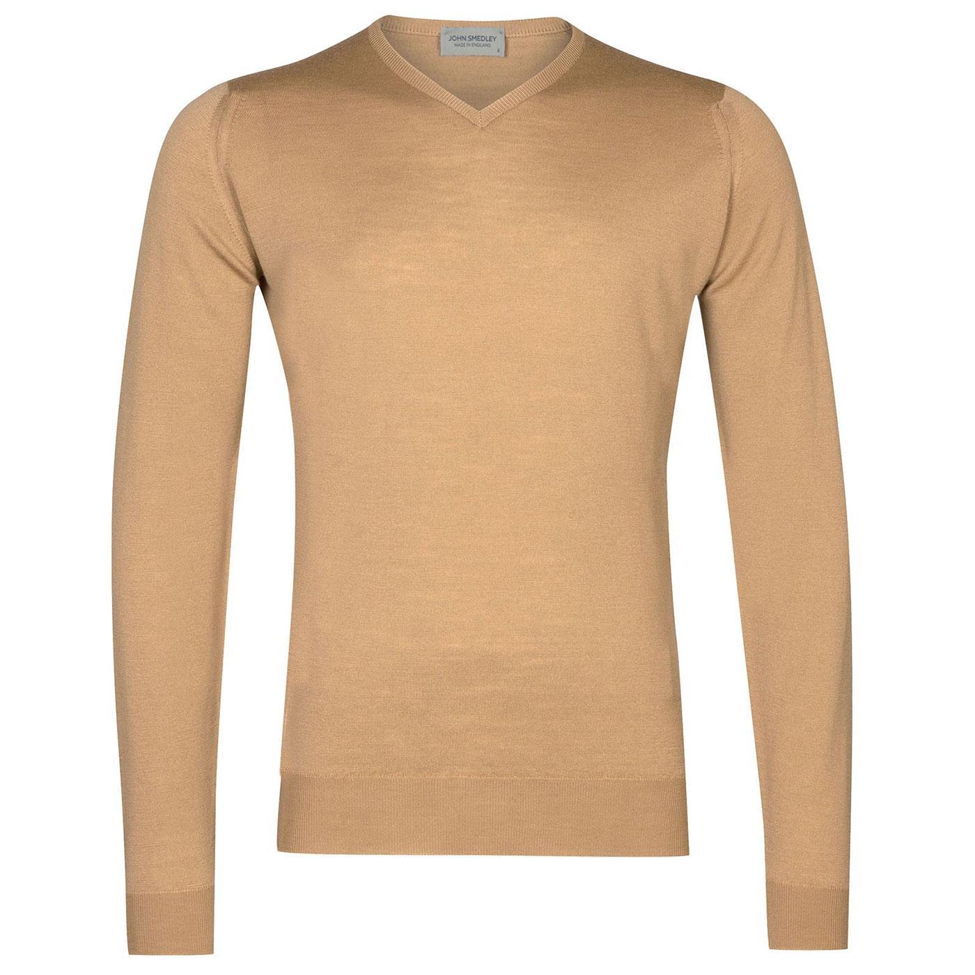 Shipton JOHN SMEDLEY Merino Wool V-Neck Pullover