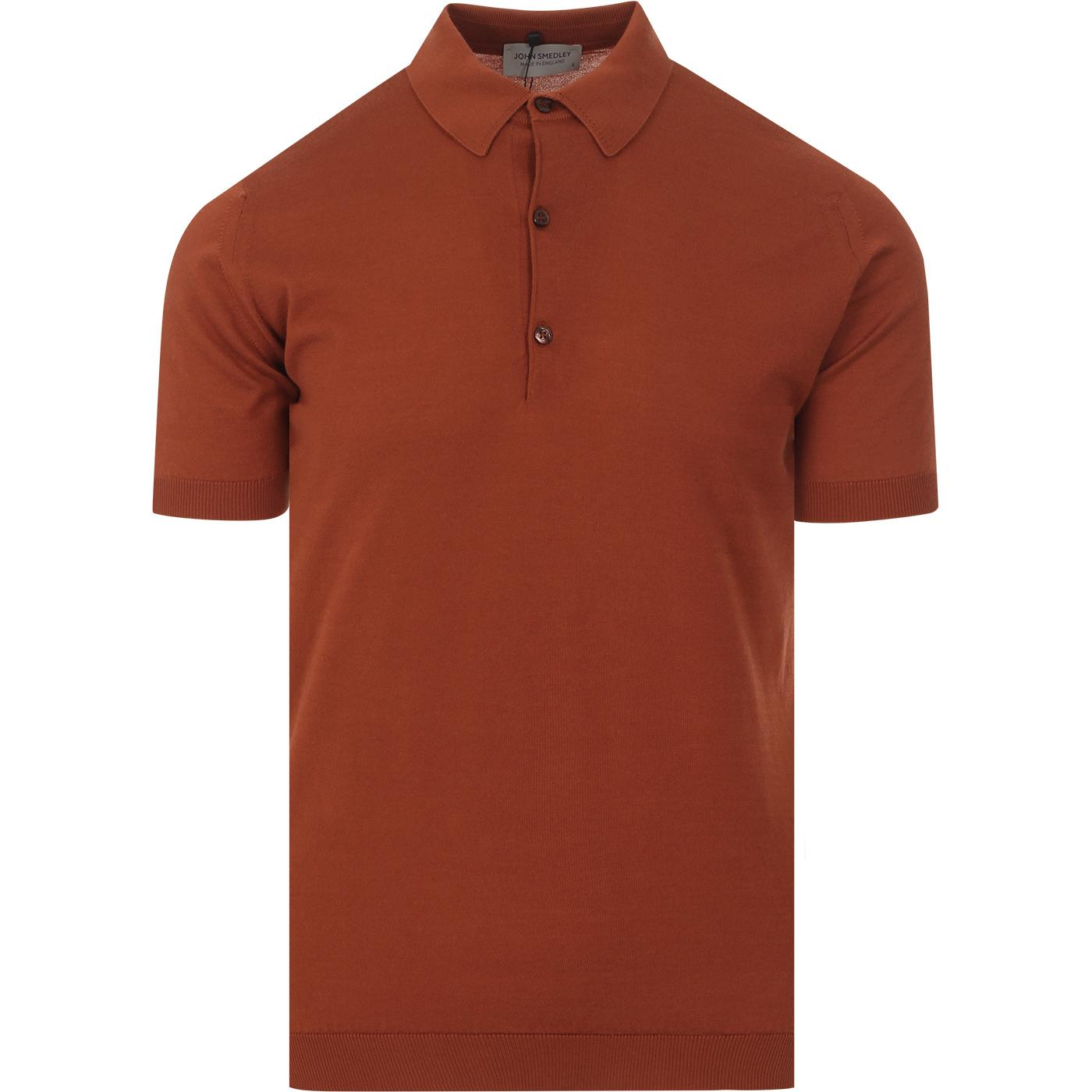 Adrian JOHN SMEDLEY Made in England Polo CINNAMON