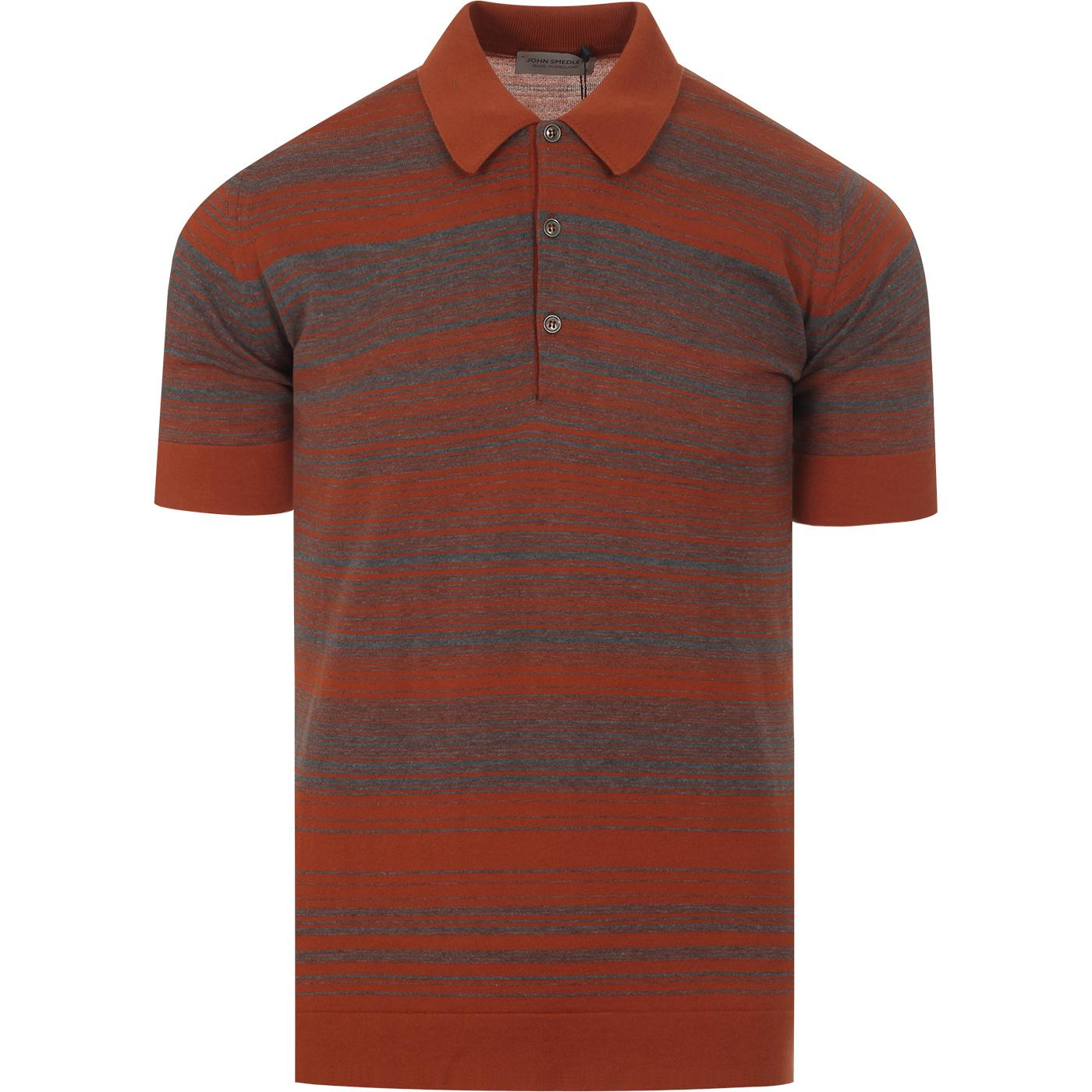 Timber JOHN SMEDLEY Made in England Stripe Polo