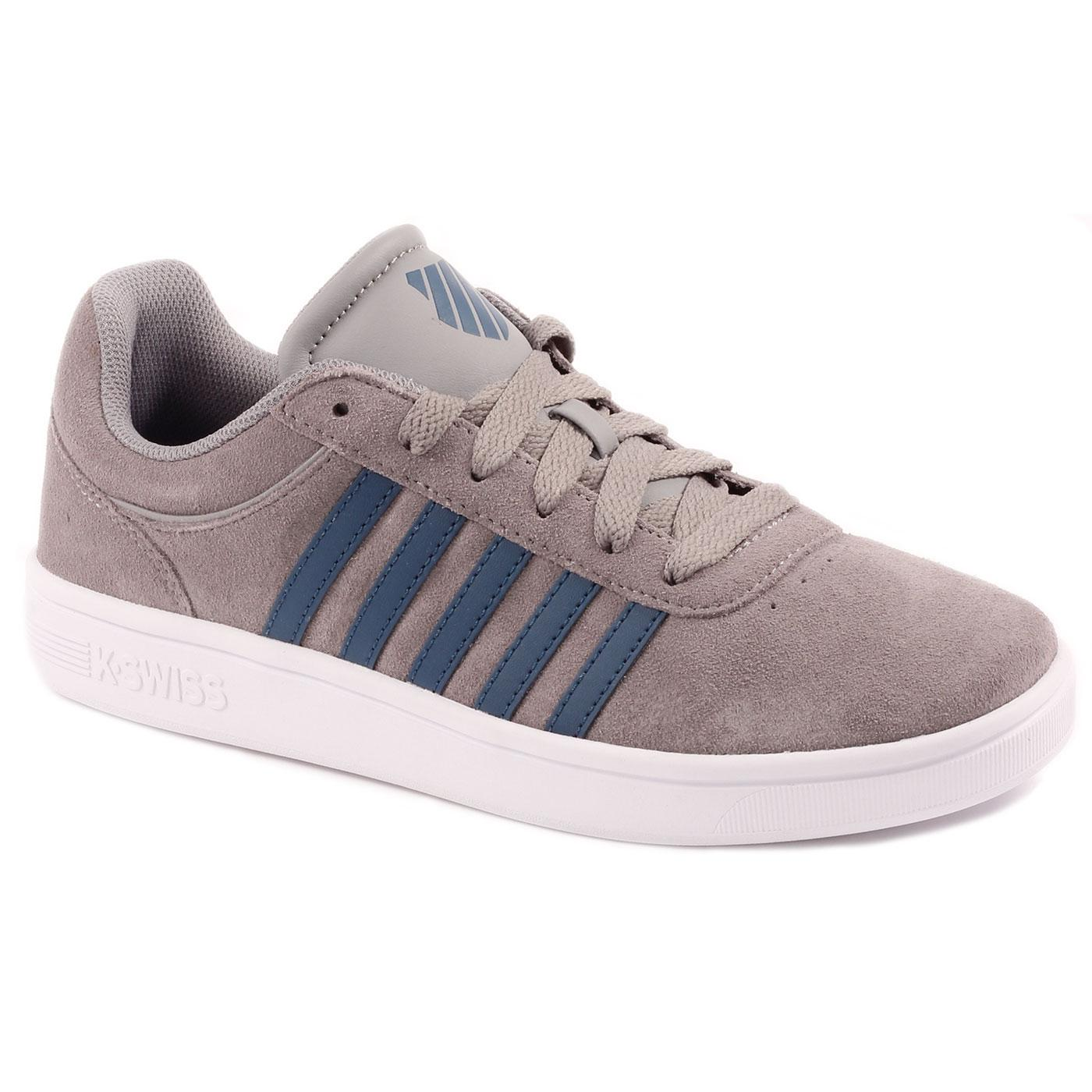 Court Cheswick Suede K-SWISS Retro Trainers S/P/W
