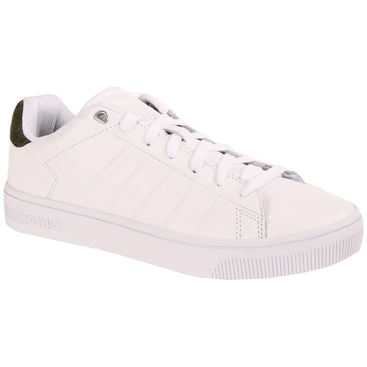 Court Frasco K-SWISS Retro Leather Trainers (W/G)