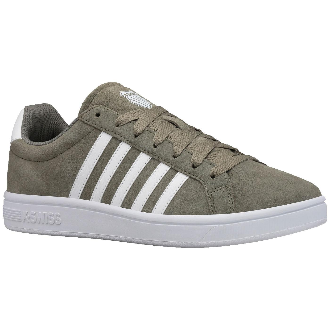 Court Tiebreak K-SWISS Suede Stripe Trainers G/W