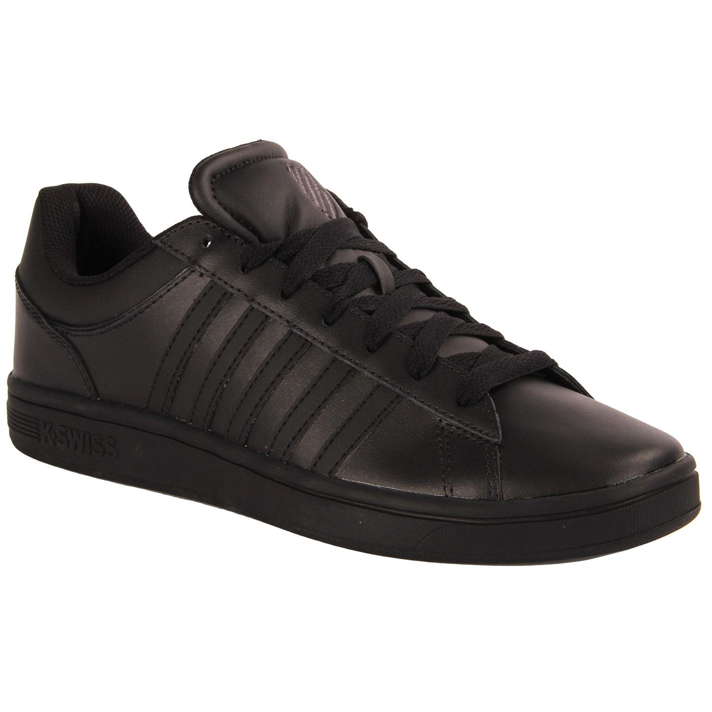 Court Winston K-SWISS Retro Trainers (Black/Black)