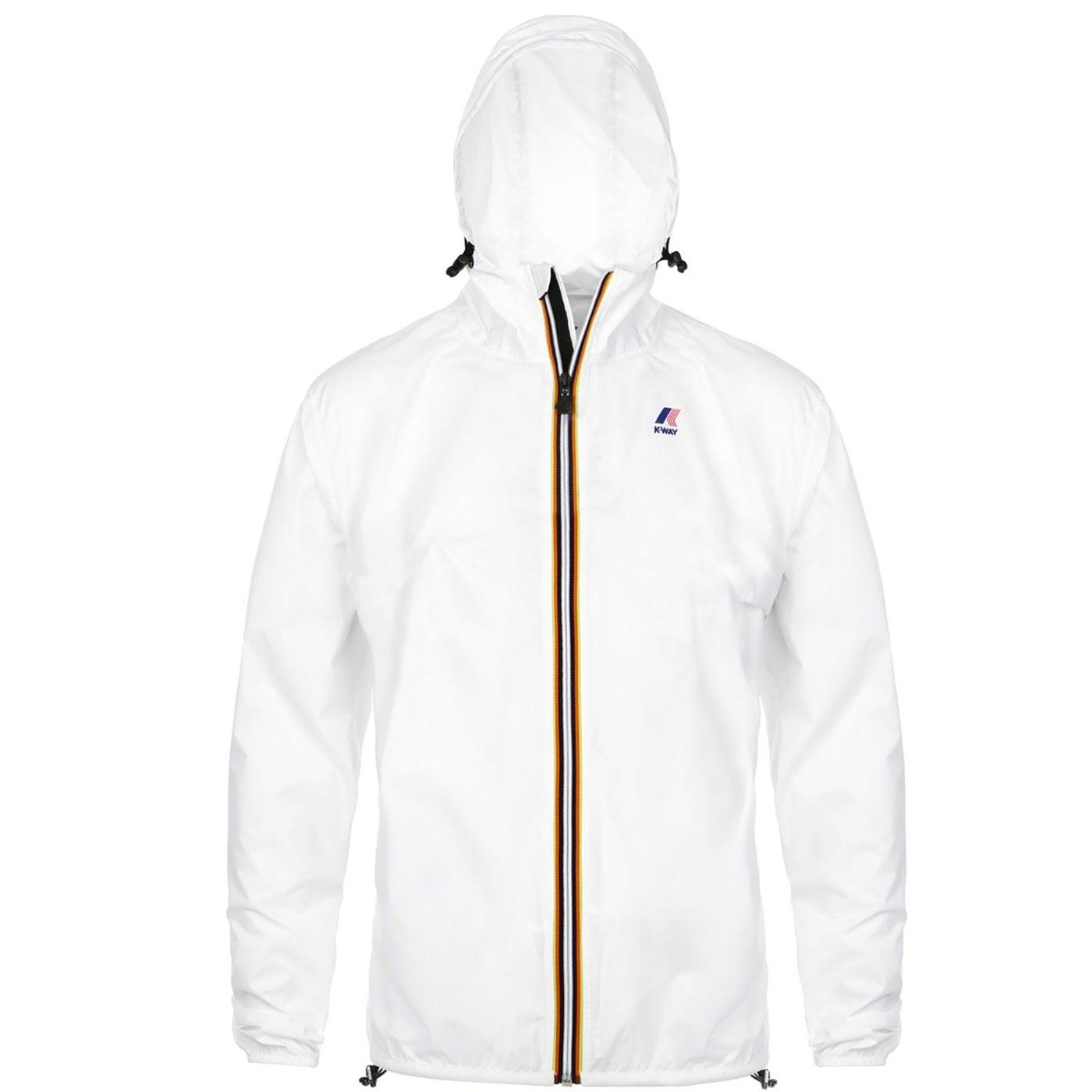 Claude K-WAY Men's Retro Pack-A-Mac Cagoule WHITE