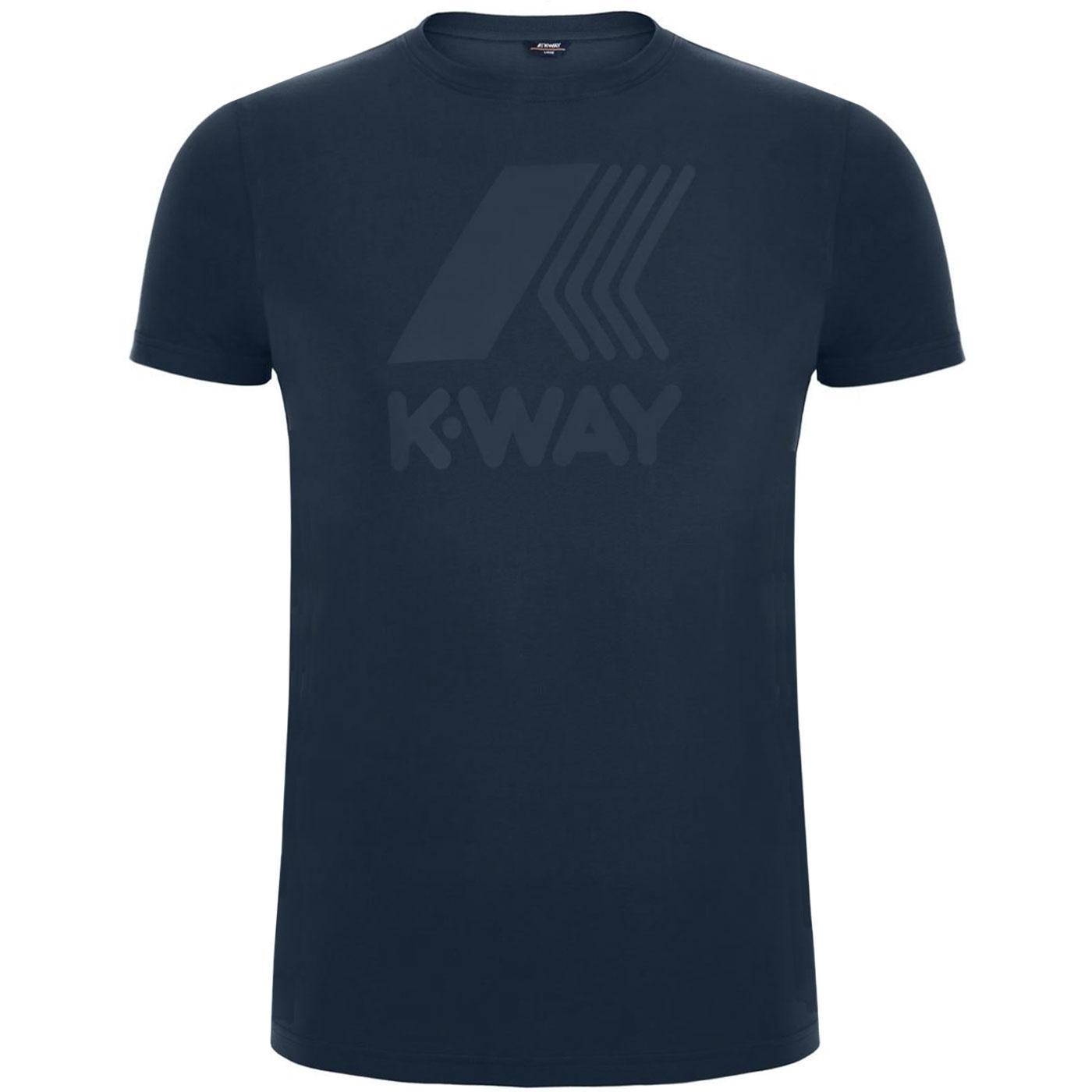 Elliot K-WAY Retro Macro Logo T-Shirt BLUE DEPTHS