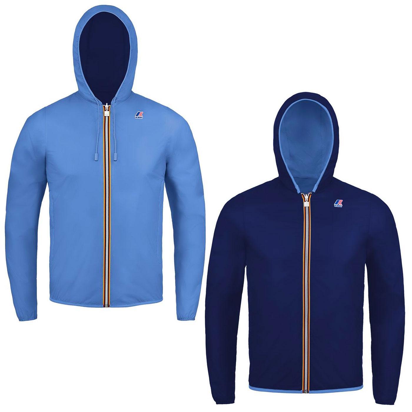 Jacques Plus K-WAY Reversible Anorak Jacket AZURE