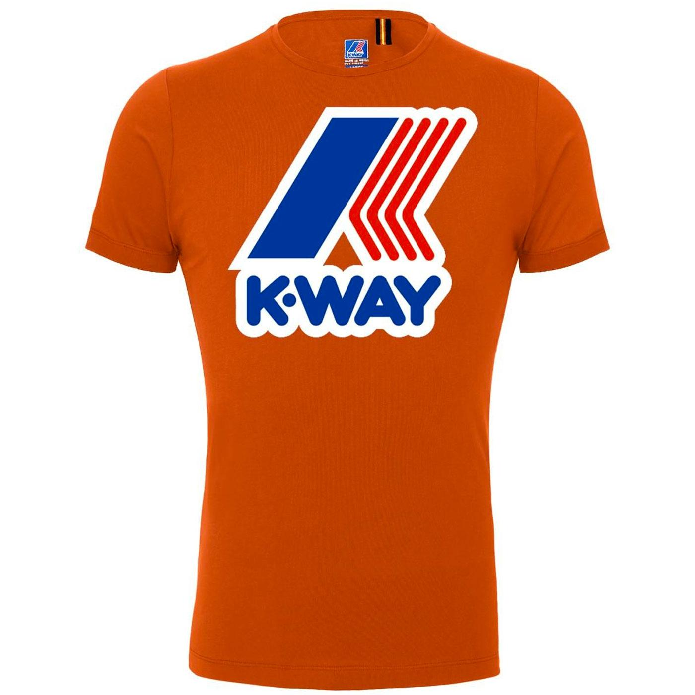 K-WAY Pete Macro Logo Retro 80s Tee (Dark Orange)
