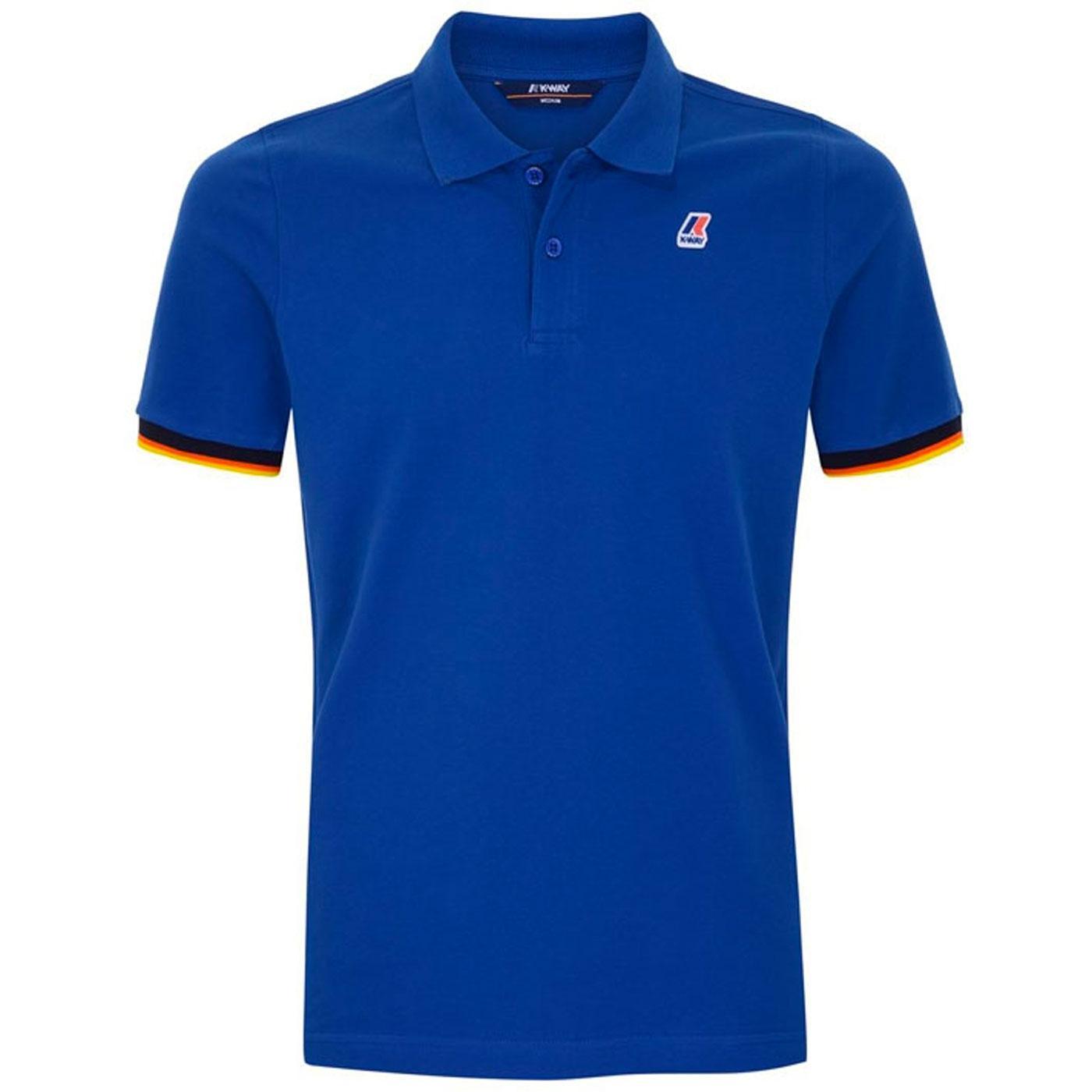 Vincent K-WAY Retro Mod Pique Polo Shirt (Royal)