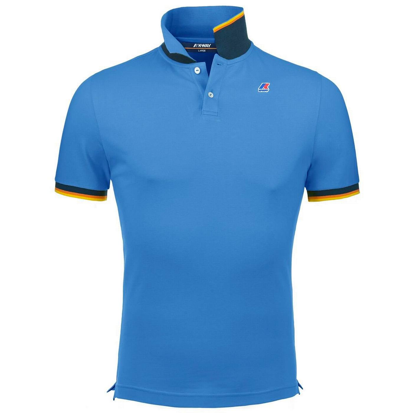 Vincent K-WAY Retro Mod Pique Polo Top (Blue Avio)