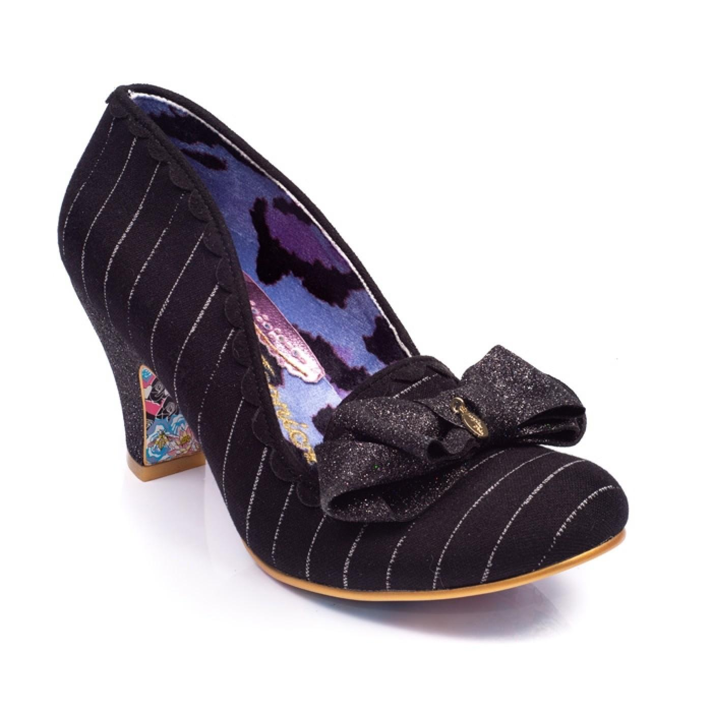 Kanjanka IRREGULAR CHOICE Pinstripe Heels BLACK