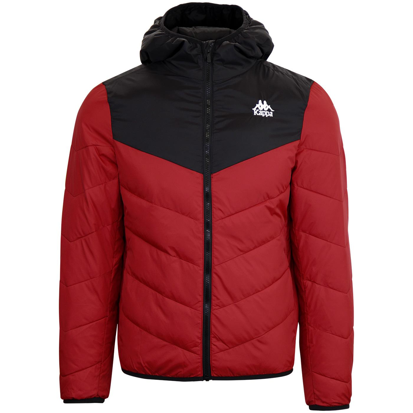Amarit KAPPA Retro 80s Quilted Puffer Jacket Red