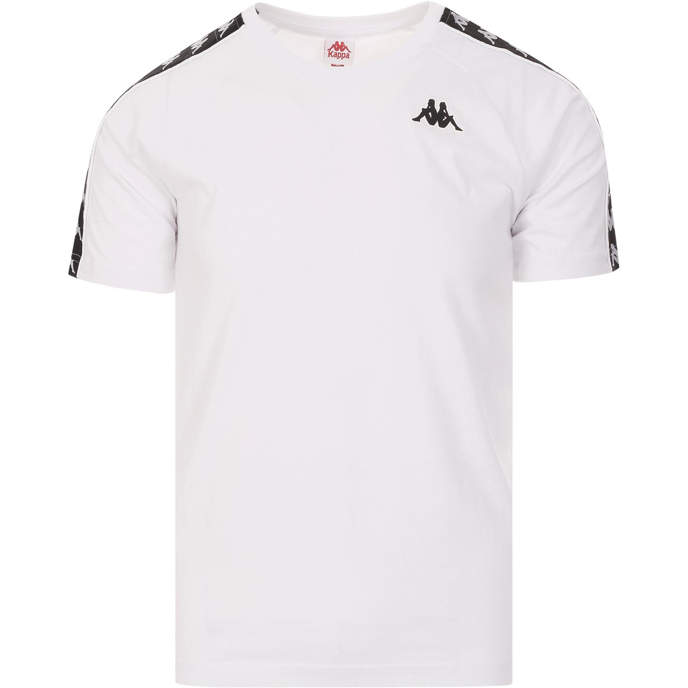 Coen KAPPA Retro 80s Taped Sleeve T-Shirt (W/B)
