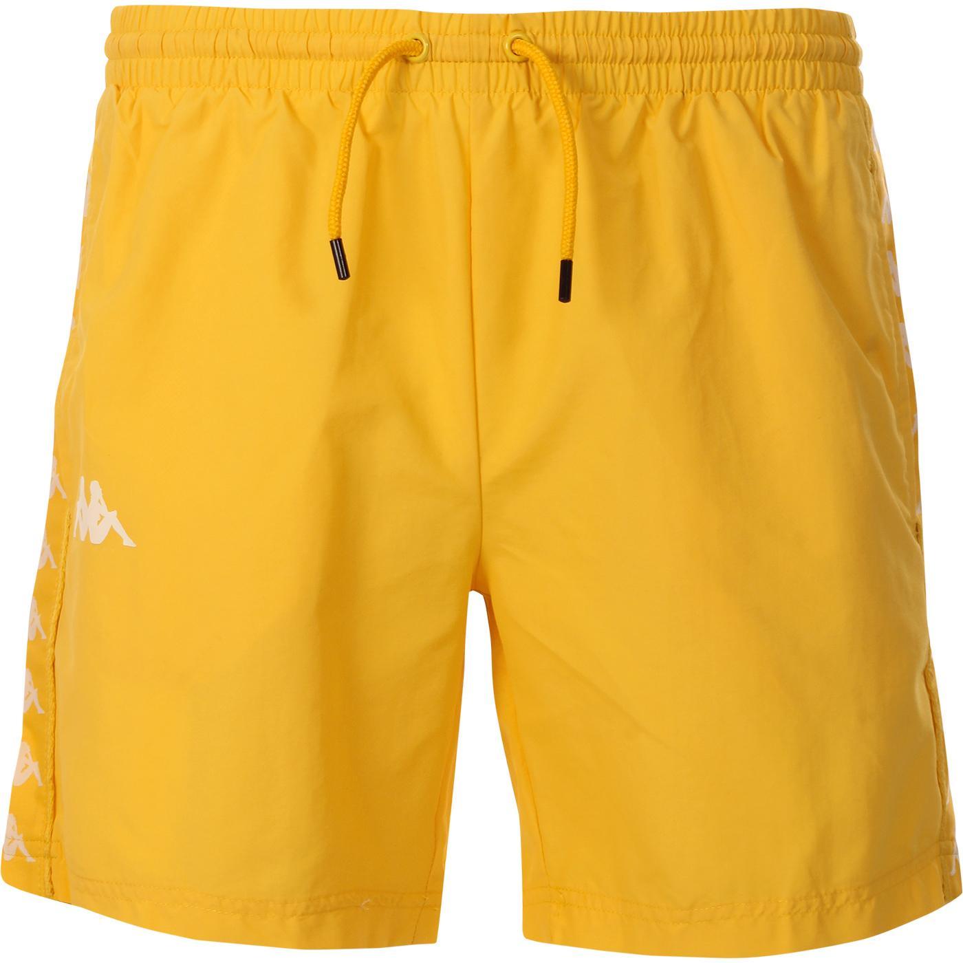 Coney KAPPA 222 Banda Swim Shorts (Yellow/White)