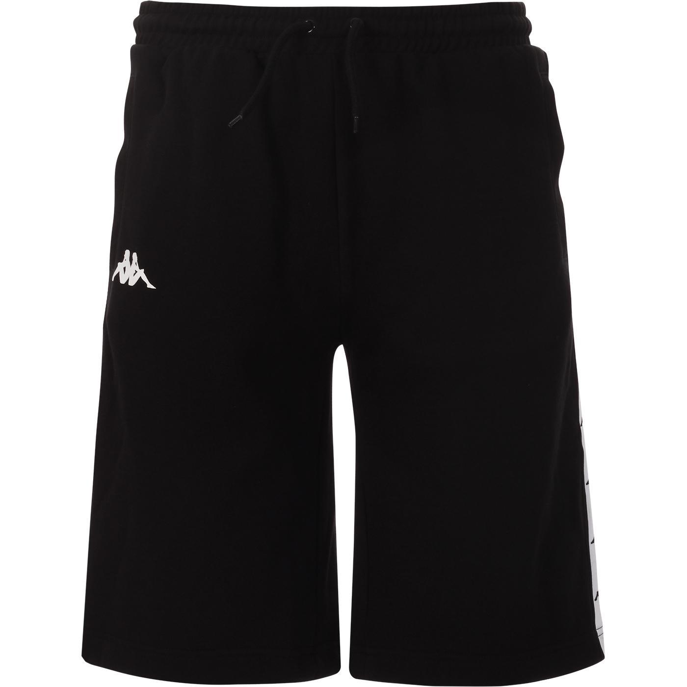 Tunner KAPPA 90s Mid Length Wide Cut Shorts (B/W)