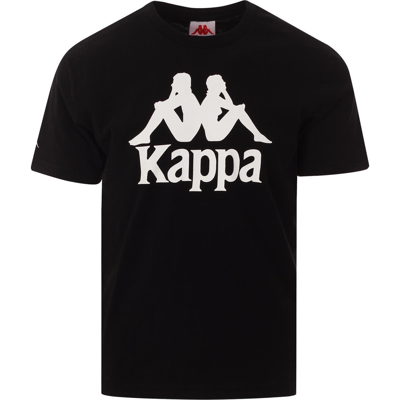 Tahiti KAPPA Retro 90s Omni Logo Tee (Black/White)