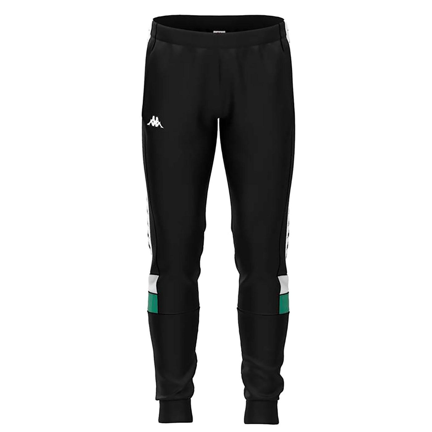 Mens KAPPA Retro Panel Trim Tracksuit Bottoms
