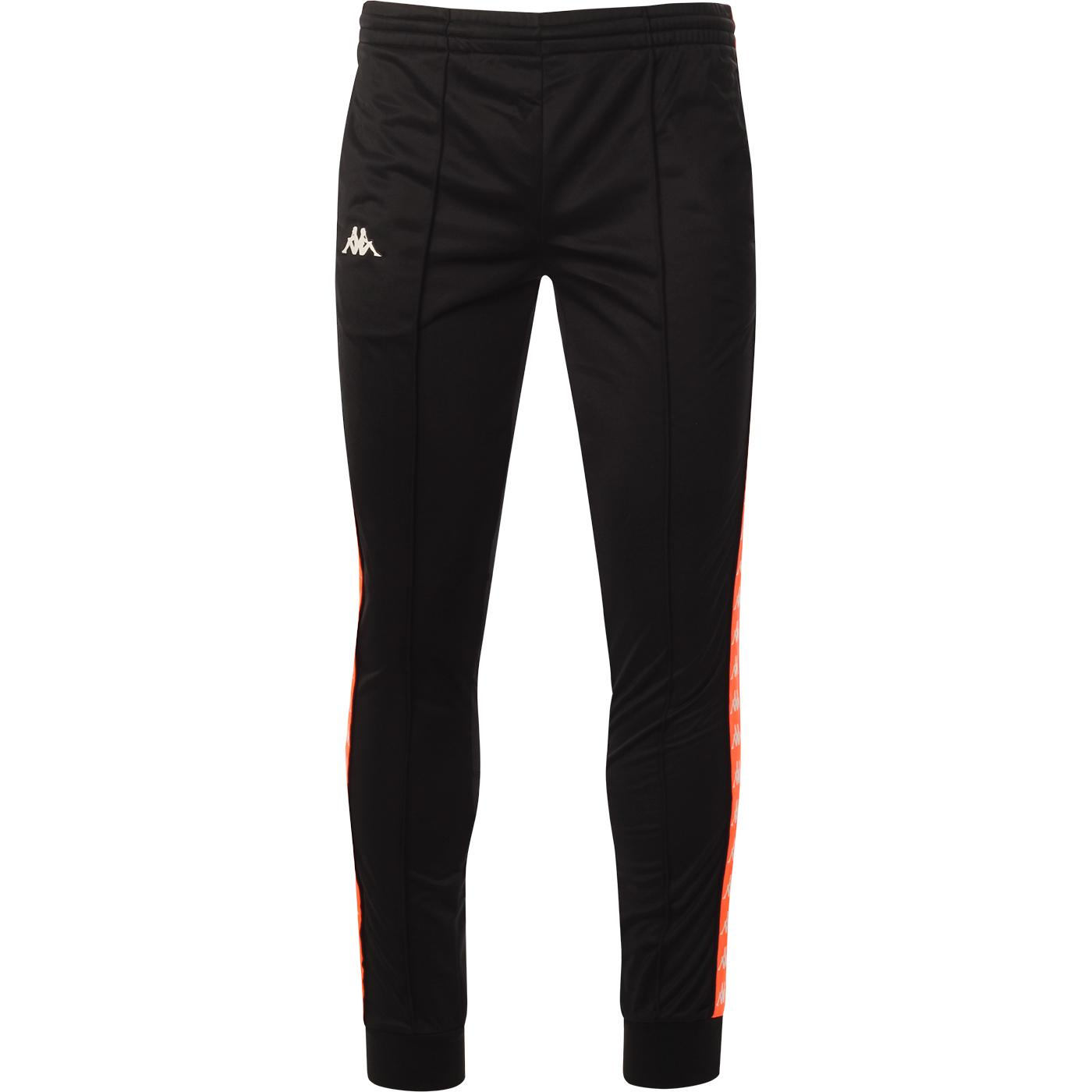 Rastoria KAPPA Banda 222 Track Pants BLACK/ORANGE