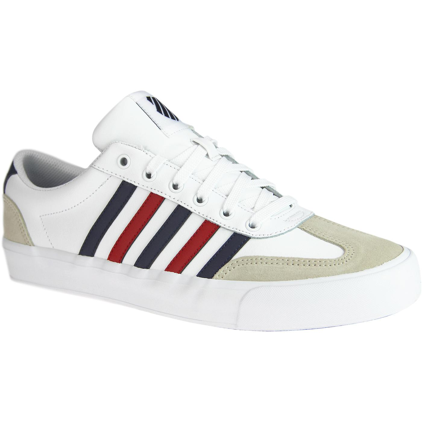 Addison K-SWISS Retro Leather Vulcanised Trainers
