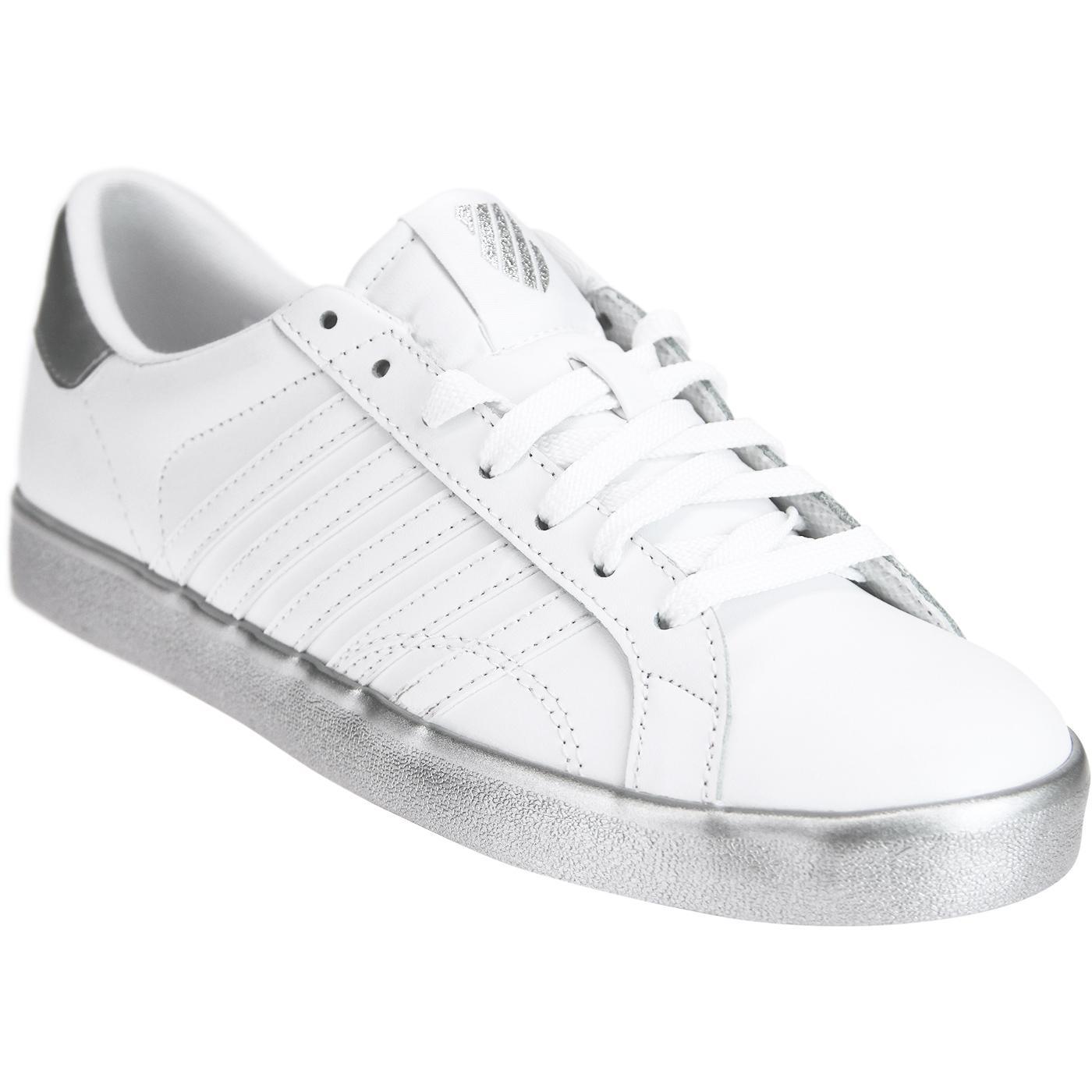 Belmont SO K-SWISS Retro Trainers (White/Silver)