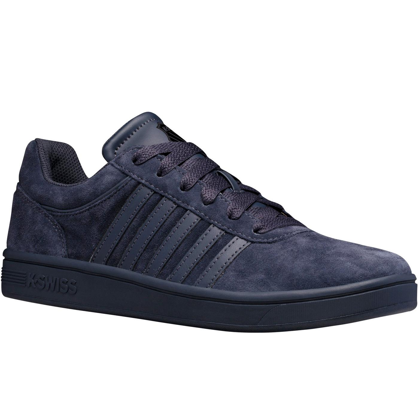 Court Cheswick Suede K-SWISS Retro Trainers (Ink)