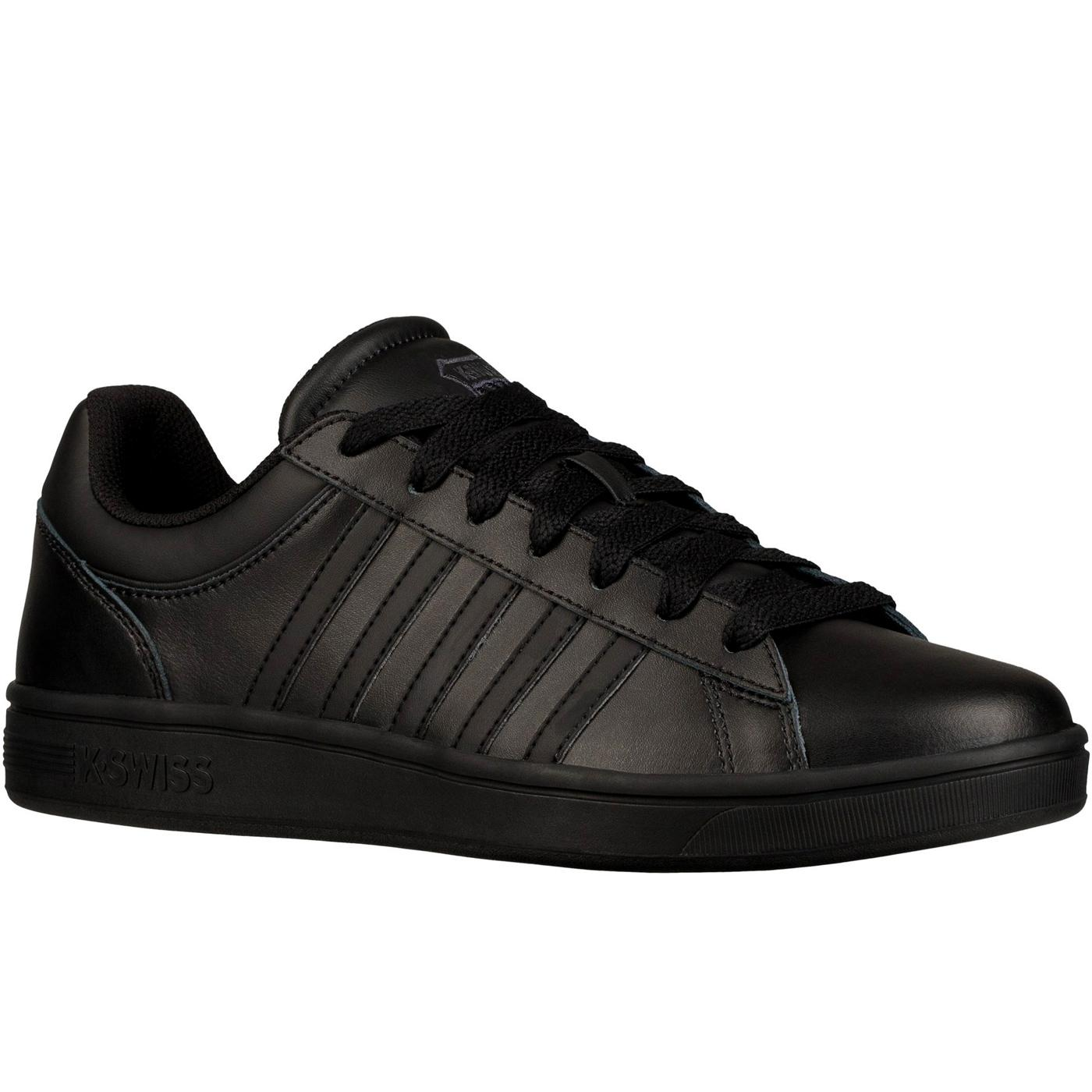 Court Winston K-SWISS Men's Retro Trainers (B/B/B)