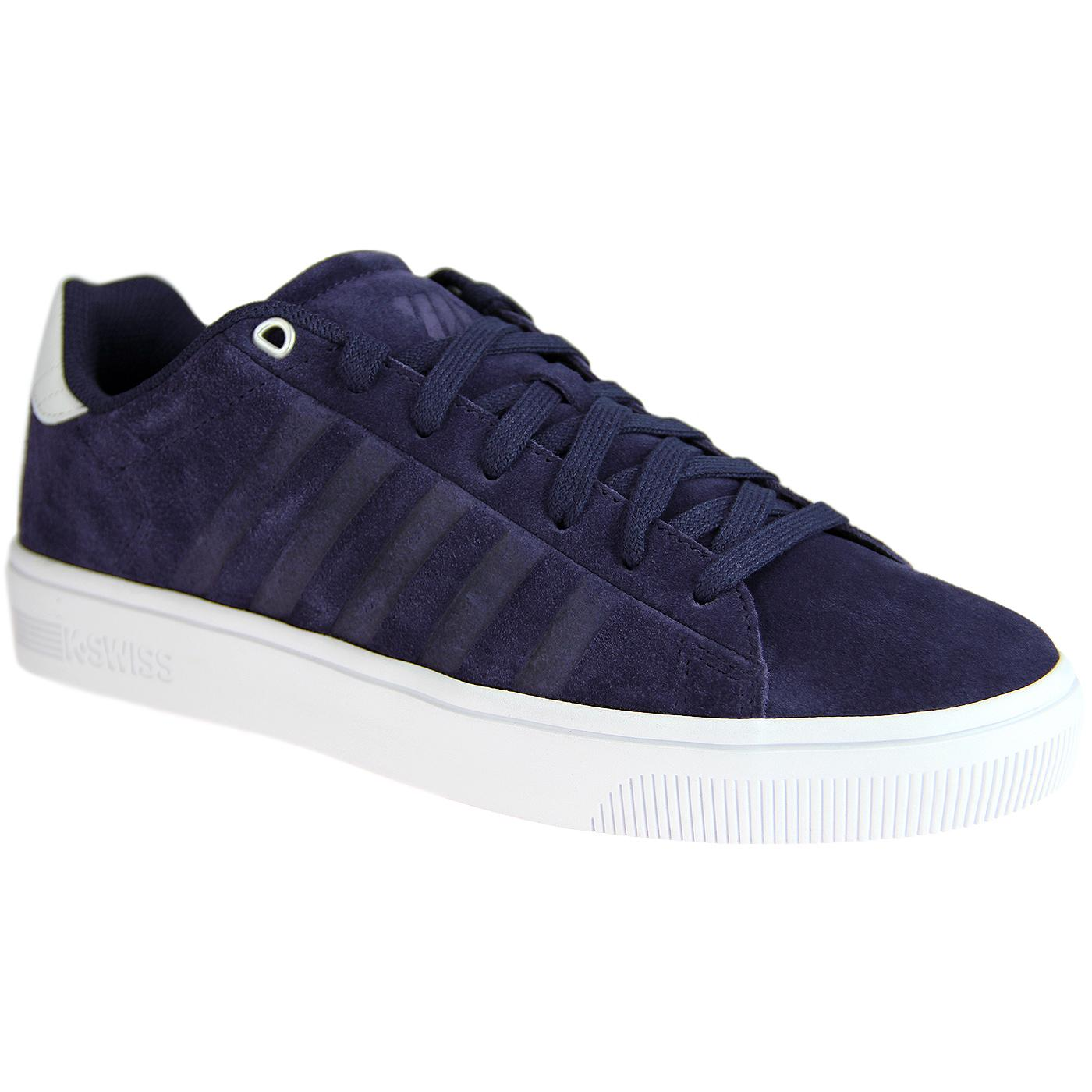Court Frasco K-SWISS Retro Suede Trainers (Navy)