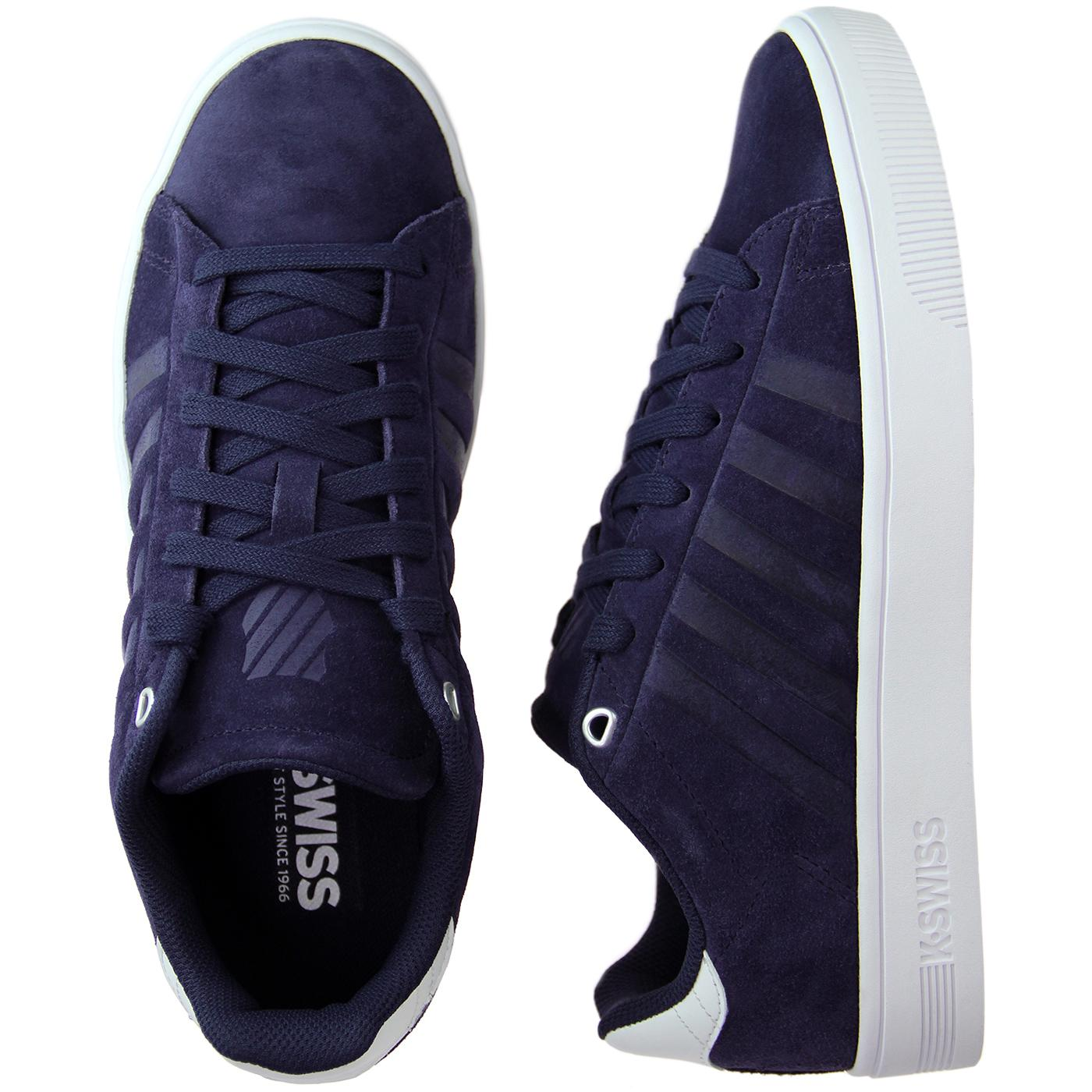 Retro Suede Trainers Navy/White
