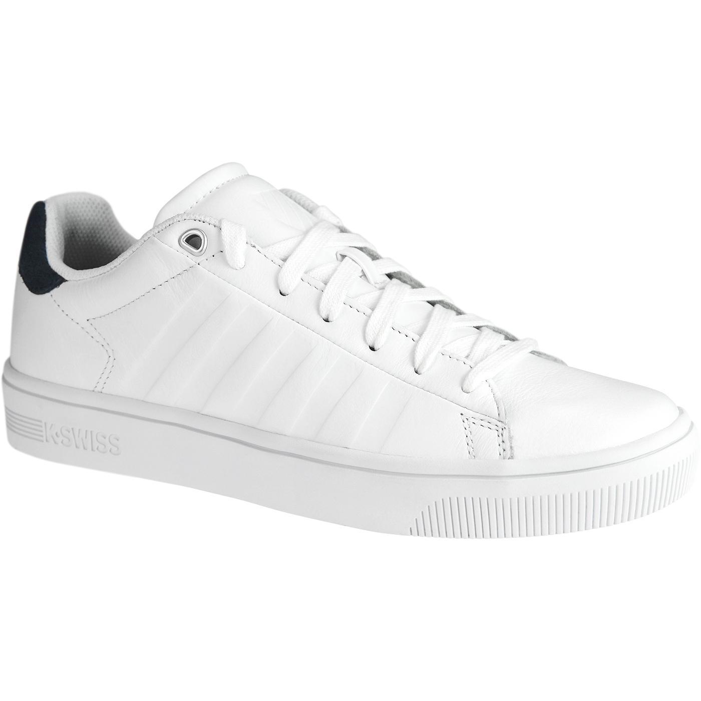 Court Frasco K-SWISS Retro Leather Trainers WHITE