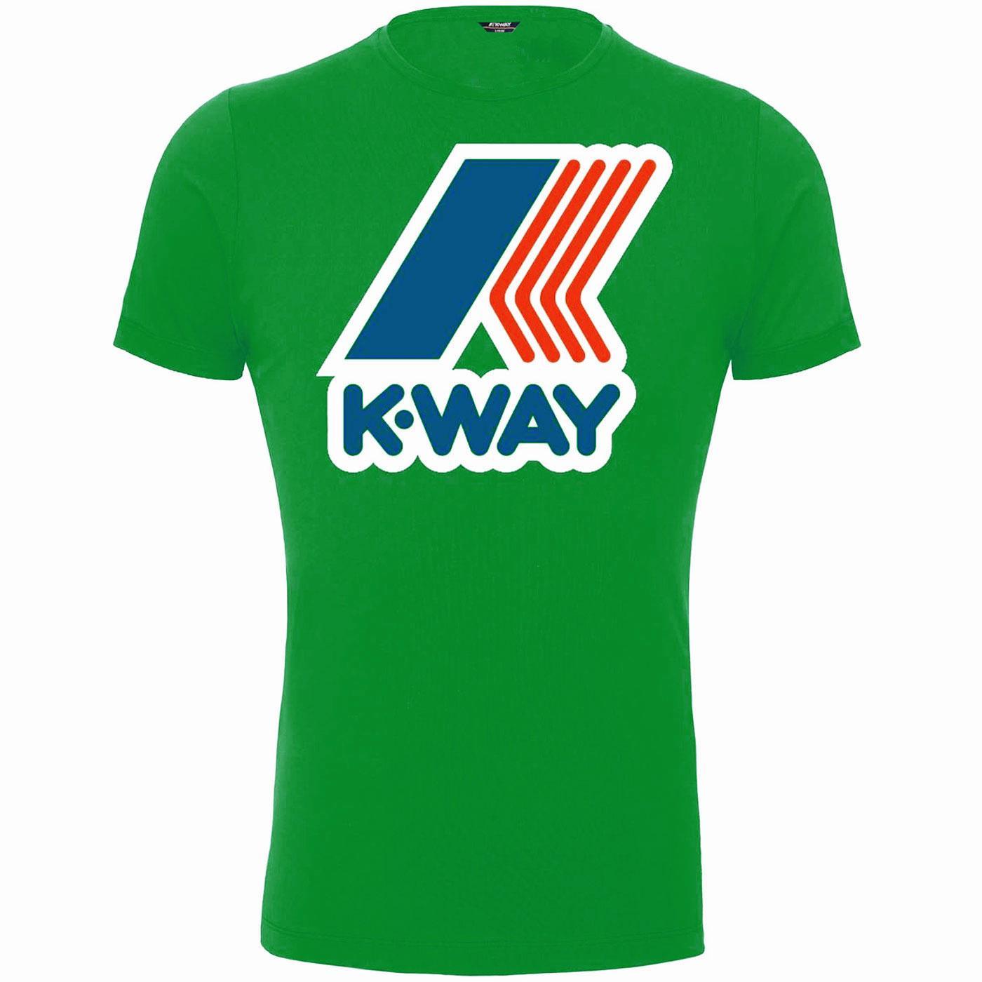 K-WAY Pete Macro Logo Retro 80s Tee (Green Cactus)