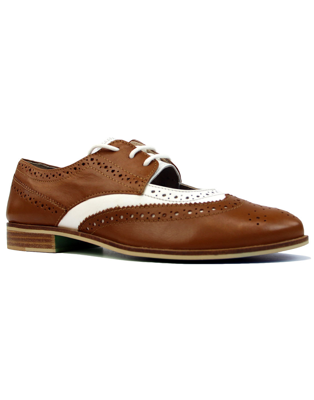 Dockery JASPER JAMES by LACEYS Retro Brogues Tan
