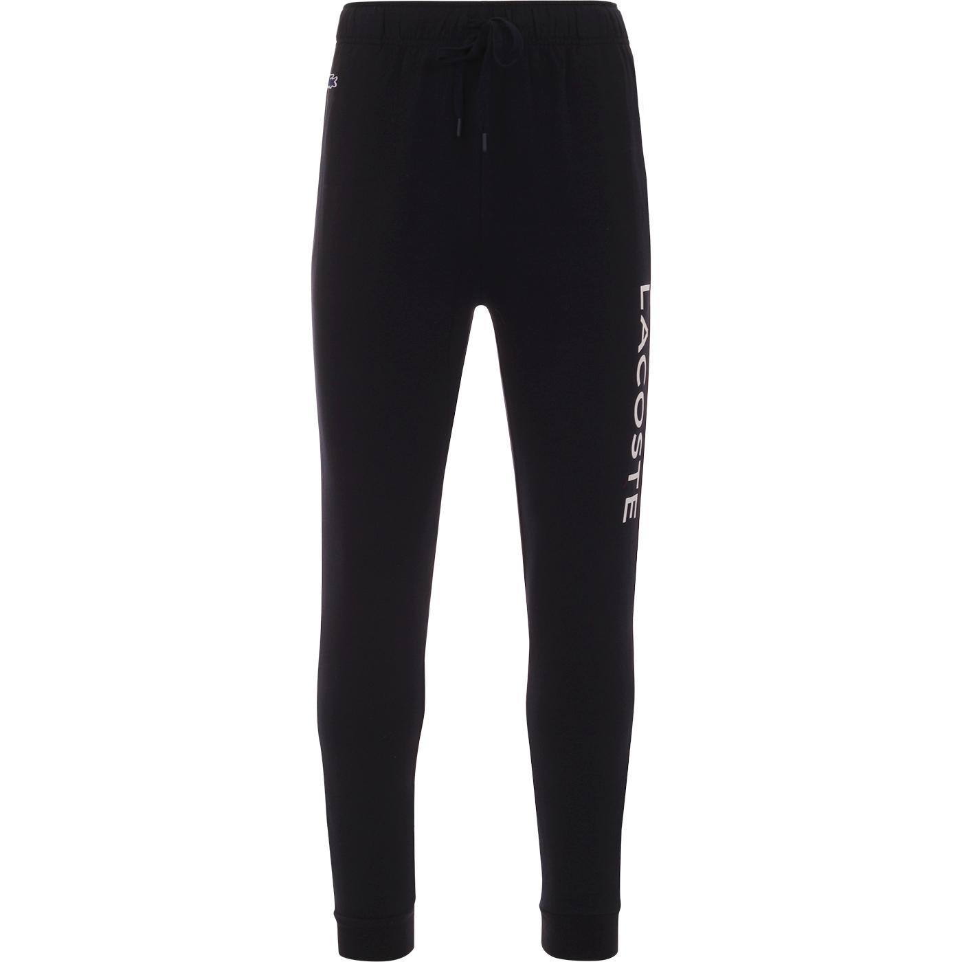 LACOSTE Retro Loungewear Long Logo Pants In Blue