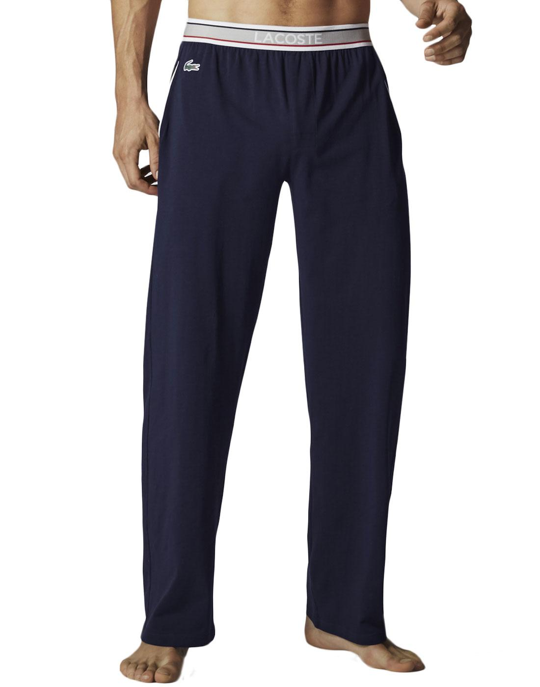 + LACOSTE Retro Stripe Waistband Long Lounge Pants