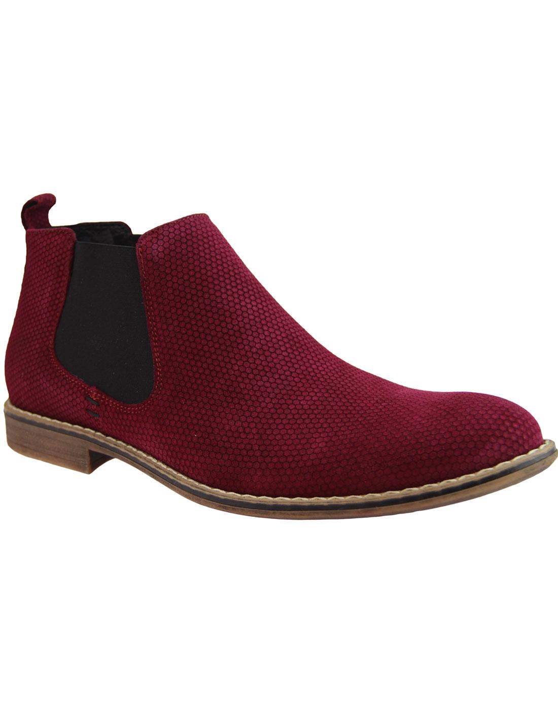 LACUZZO Mod Atom Embossed Suede Chelsea Boots (C)