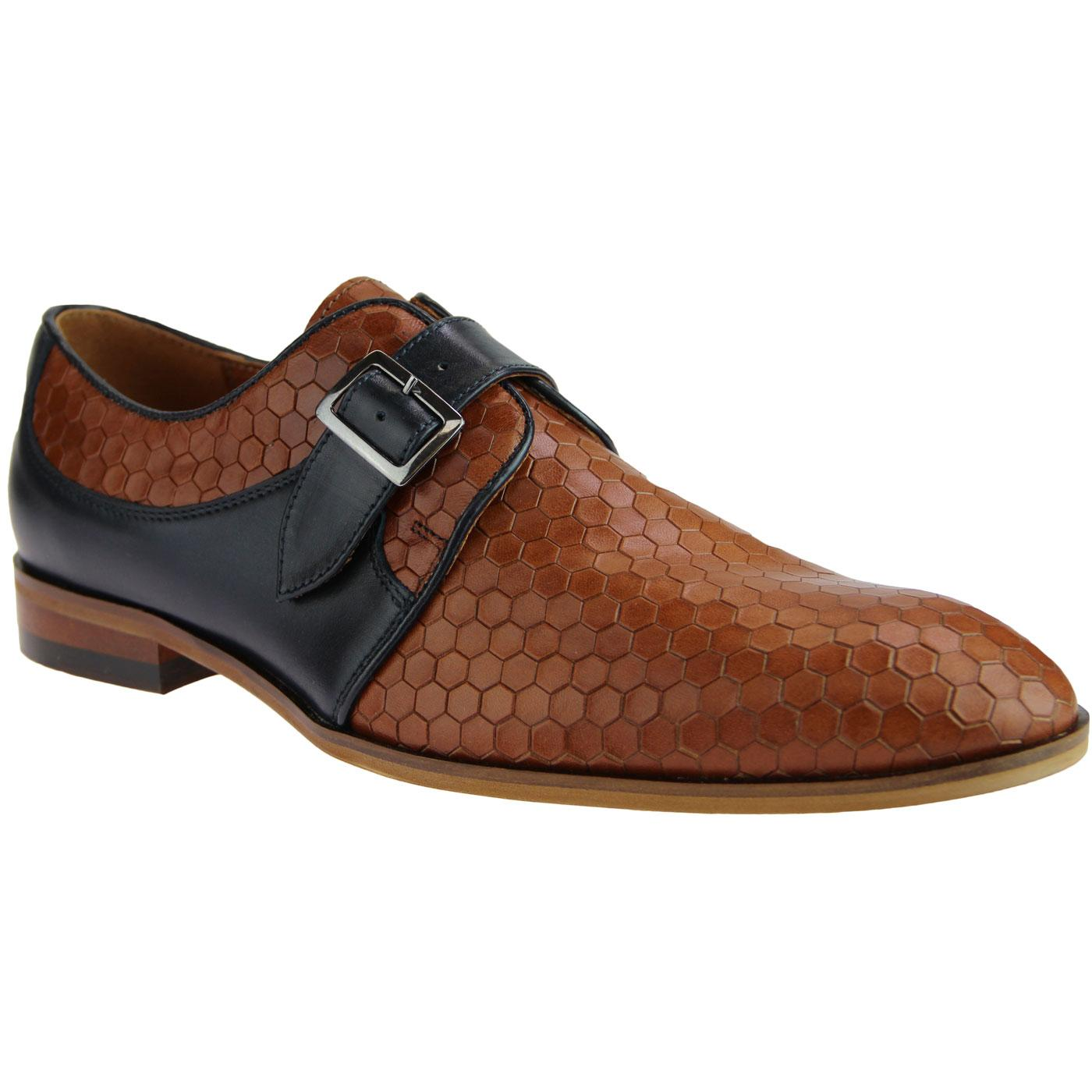 Lane LACUZZO Mod Honeycomb Leather Loafers (Tan)
