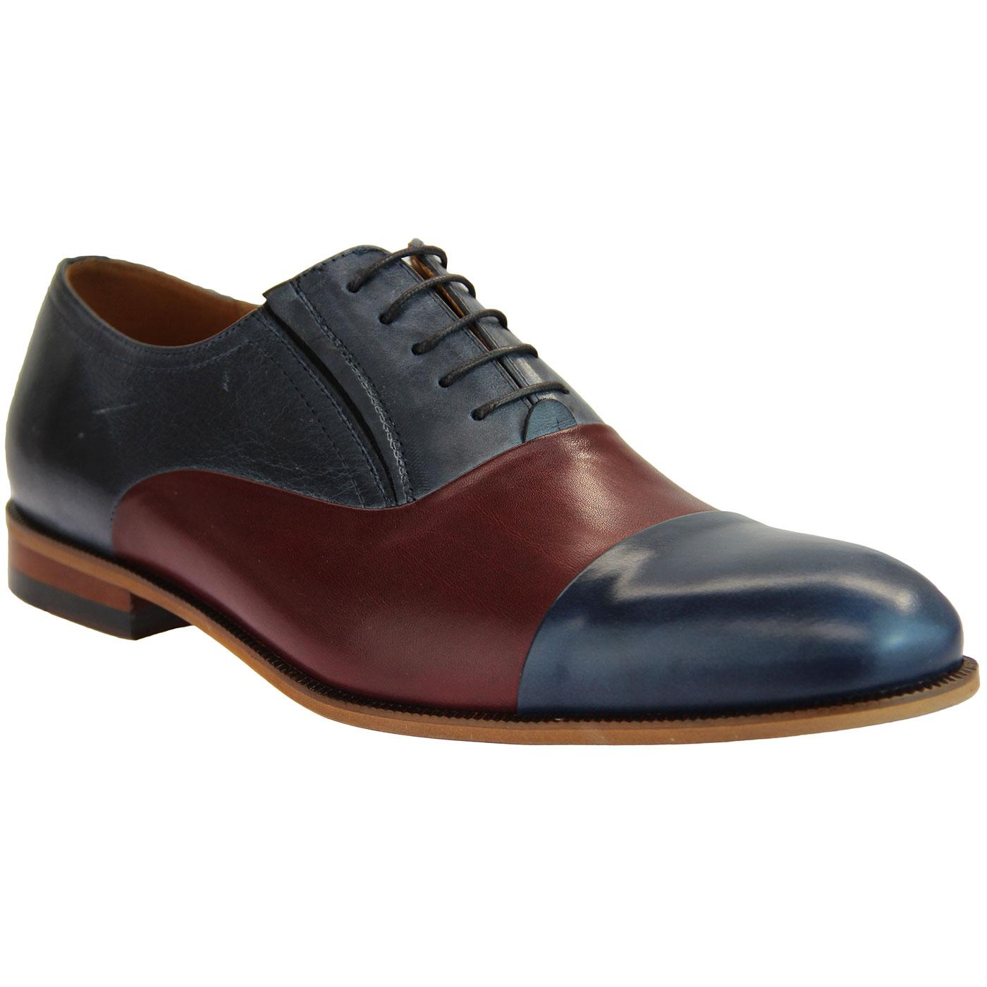 LACUZZO Retro 60s Spatz Style Smart Oxford Shoes