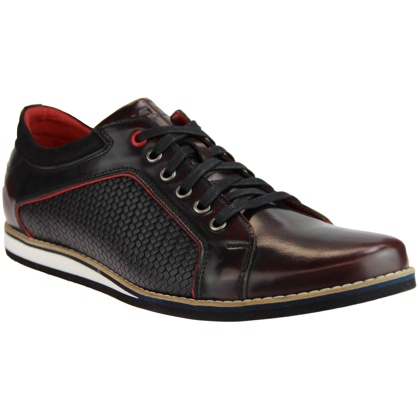 LACUZZO Retro Weave Northern Soul Trainer Shoes C