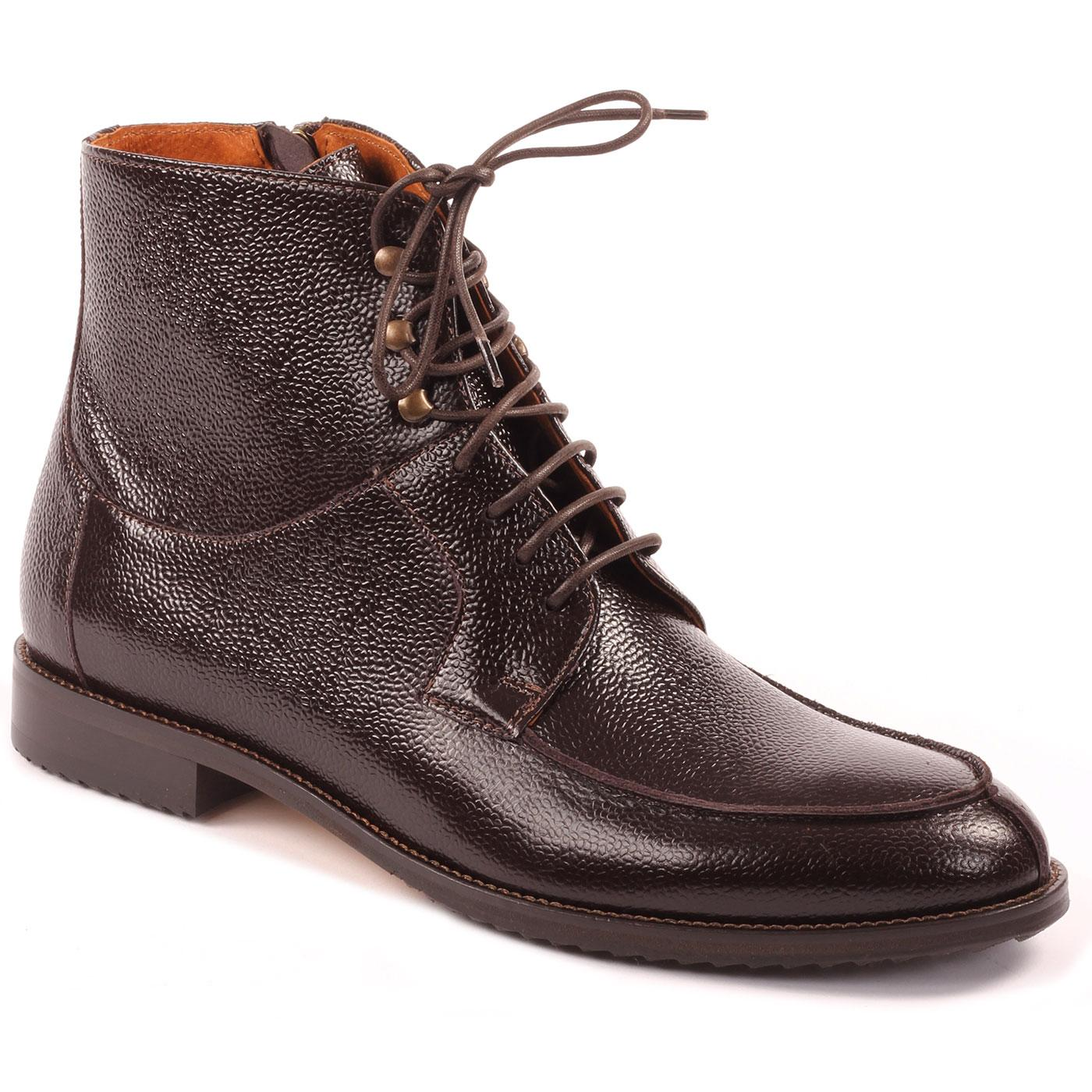 LACUZZO Men's Retro Scotch Grain Worker Boots
