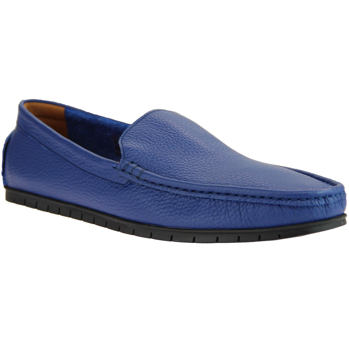 LACUZZO Retro Mod Moccasin Loafer Driving Shoes