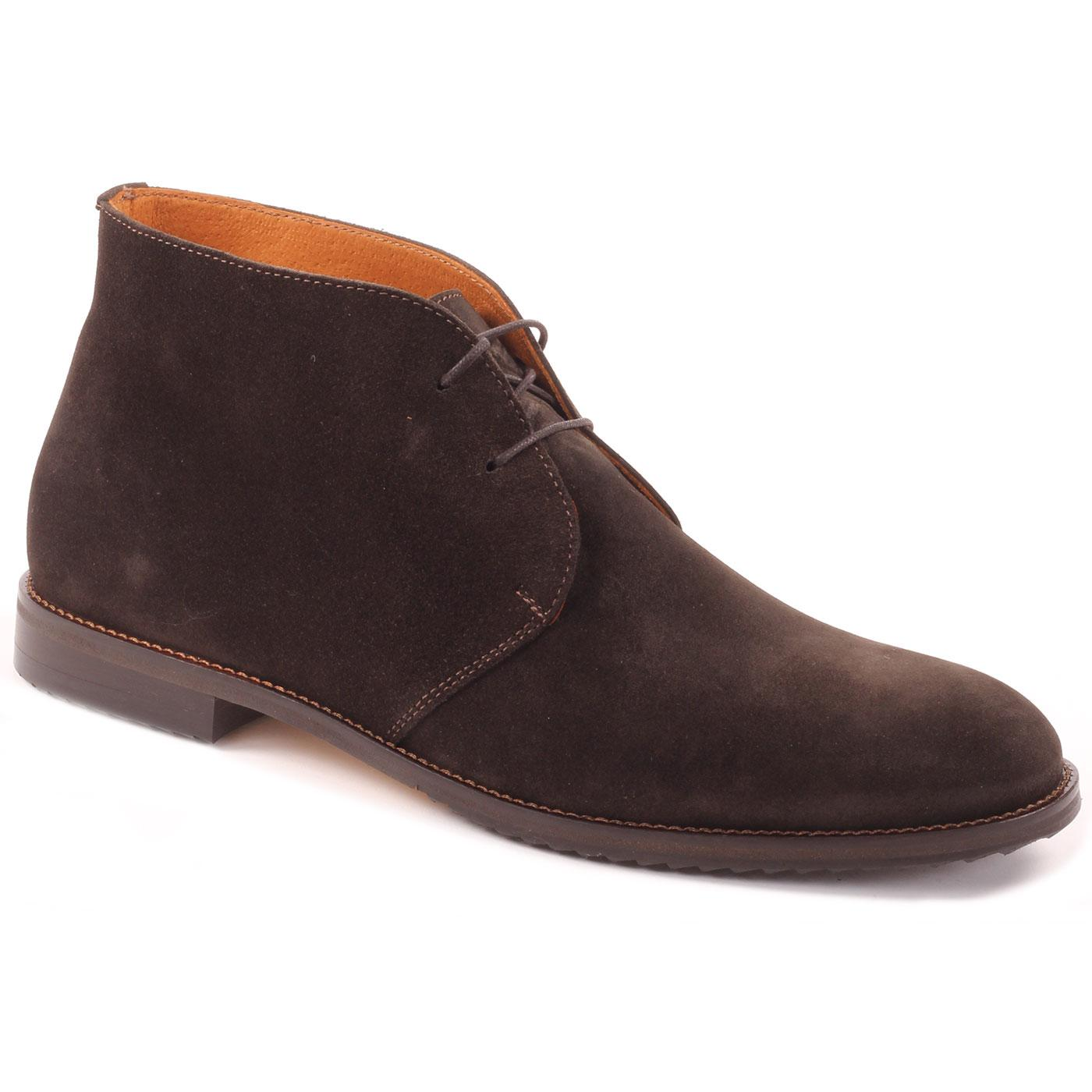 LACUZZO Men's Retro Mod Suede Chukka Boots (Brown)