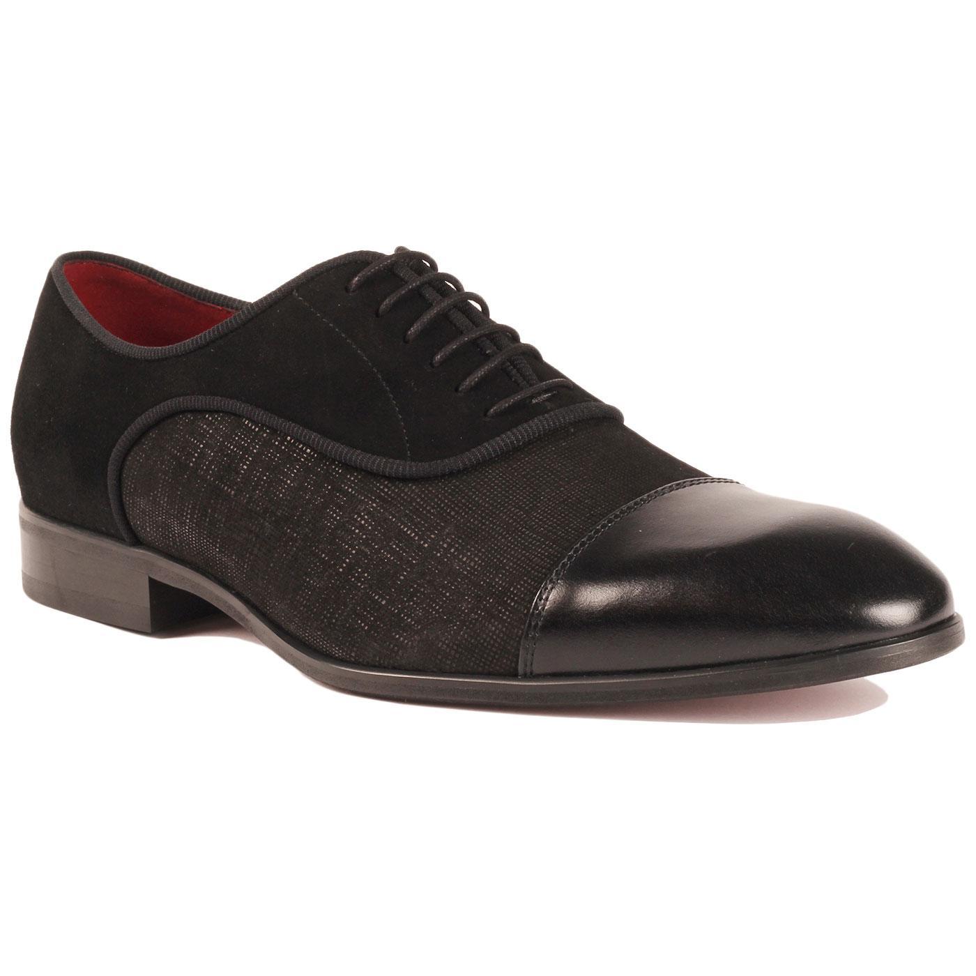 LACUZZO Men's Mod Textured Toe Cap Dress Shoes