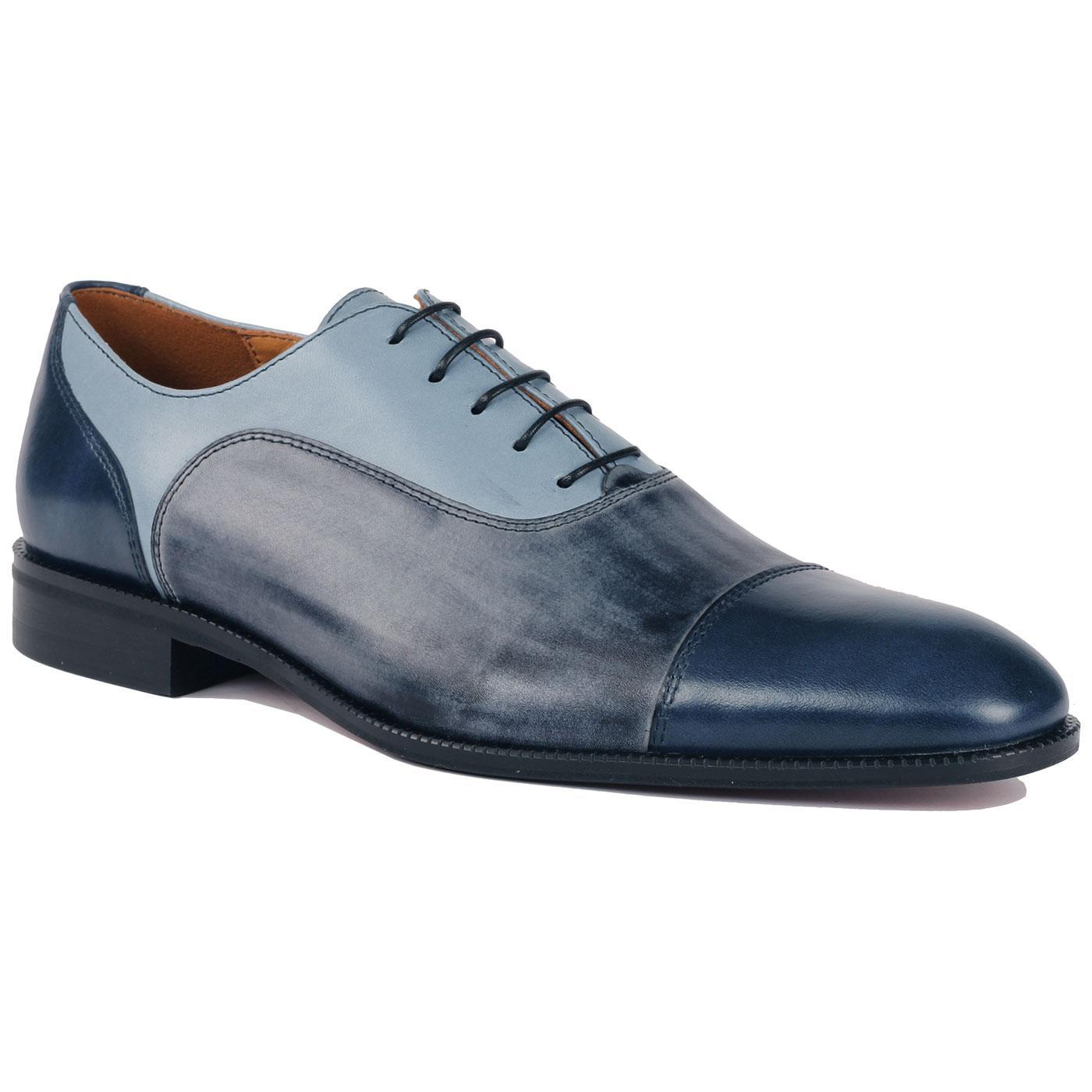LACUZZO Retro Mod Tri-Colour Oxford Toe Cap Shoes
