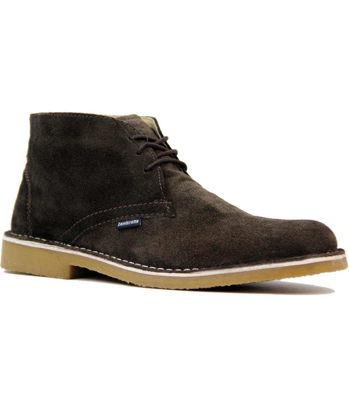 Retro 60s Mod Suede Desert Boots