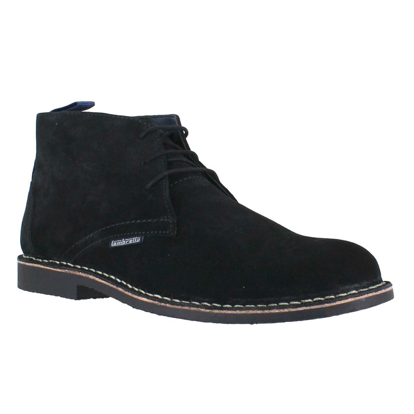 LAMBRETTA Men's 60s Mod Suede Desert Boots (Black)