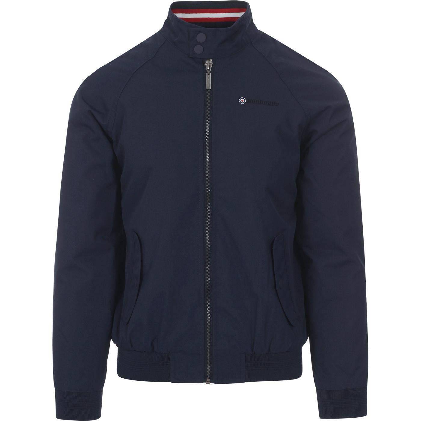 LAMBRETTA Mod Snap Collar Harrington Jacket (Navy)